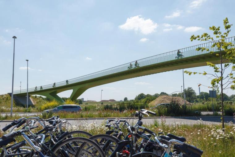 RijnWaalpad_groentje_fietsenstalling